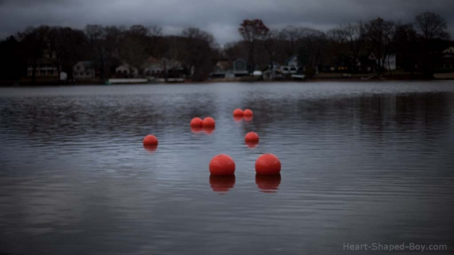 Orange Floats on a Gray Day