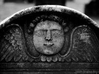 Creepy Angel Headstone